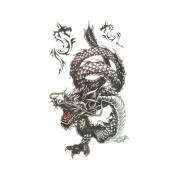 Body Transfer Stickers, FTXJ Mens Stylish Cool Design Black Waterproof Sweat Temporary Tattoo