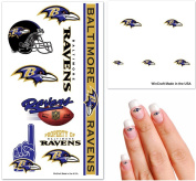 Baltimore Ravens NFL Temporary Tattoos - Fan Fun Pack