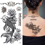 Supperb Temporary Tattoos - Fish & Lotus