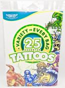 Savvi 25 assorted Tattoos,Temporary,Dragons,Skulls,Flowers,Stars,Planets+