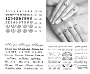 3-sheets Black & White Temporary Tattoos Quote and letters - Finger, Shoulder, Neck, Arm Knuckle Tattoos