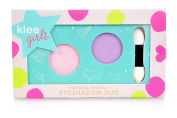 Klee Girls All Natural Mineral Makeup Eyeshadow Duo - Sugar Hill Bloom, Sierra Amble (Purple, Pink)