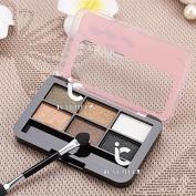 Makeup Eye Shadow Cosmetic 6 Colours Shimmer Matte Eyeshadow Palette Brush Set