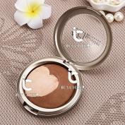 2 Colours Makeup Face Contour Concealer Bake Powder Nose Shadow Shadding Palette