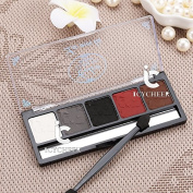 Fashion Makeup 4 Colours Eyeshadow Palette White Black Smoky Nude Eye Shadow Kit