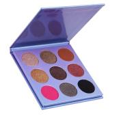 DE'LANCI 9 Colours Eye Shadow Makeup Palettes Kit Professional Warm Shimmer Eyeshadow Makeup Set