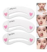 Da.Wa Reusable Eyebrow Shaping Stencils Eyebrows Drawing Template Shaper Tool