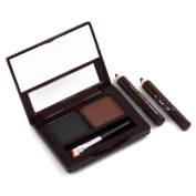 eyebrow powder - M.N Two-colour eyebrow powder Belt Eyebrow Brush Gifts with Eyeliner Pen Waterproof Natural Stereo Makeup E12002-01