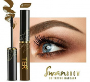 Ter Swan Brow 3D Tattoo Mascara Waterproof, Long Lasting #01 Cinamon Brown