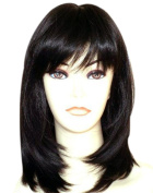 Kalyss Women's Wig Long Straight Layers Black Synthetic Hair wigs for Women