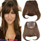 Rossy & Nancy #4 Brazilian Human Hair Clip-in Hair Bang Full Fringe Short Straight Hair Extension for women 15cm - 20cm