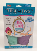 Turbie Twist Microfiber Hair Towel (2 Pack)Aqua-Purple