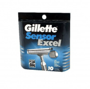 Gillett Sensor Excel Refill Blade Cartridges, 10 Ct.