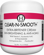Moisturising Skin Lightening, Whitening, Anti-Ageing Cream with Hyaluronic Acid, Vitamin C, Niacinamide, and 5 strong organic skin lighteners, 4 oz