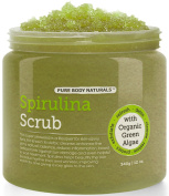 Spirulina Body Scrub Containing Vitamin E and Dead Sea Salt for Radiant Skin, 350ml