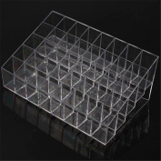 HENGSONG Acrylic 40 Stand Transparent Plastic Trapezoid Makeup Cosmetic Organiser Display Stand