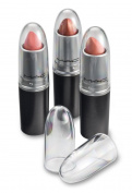Clear Acrylic Lipstick Caps - Replaces Original Individual MAC Lipstick Caps - See Your Favourite MAC Lipstick Colour Easily - Choose From 4 Pack