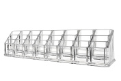 Makeup Stand Organiser - Clear, Acrylic, Lipstick, and Cosmetic Storage Display with 24 Compartments, by Juvale