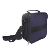 Lmeison Premium 42-Bottle Essential Oil Carrying Case With Foam Insert - Essential Oils Bag for Oil Bottles - Contain 5ml,10ml,15ml Bottles - Dark Purple