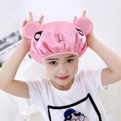 Shintop Children Shower Cap Cartoon Waterproof Double Layer Kid's Shower Hat