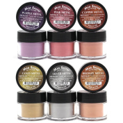 Mia Secret -Metallic Nail Acrylic Powder set of 6