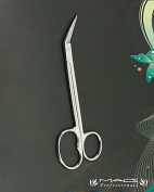 Ingrown Toe Nail Scissors One Blade Serrated Edges 2nd Blade Sharp Straigt with One Large Ring Professional Quality Macs-0561