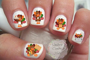Thanksgiving #3 Turkey Nail Art Decals