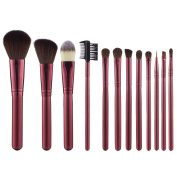 BeautyKate Premium Makeup Brushes 12 Pcs Goat Hair Kabuki Makeup Brush Set