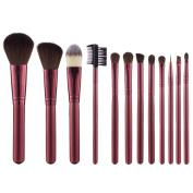 BeautyKate Premium Makeup Brushes 12 Pcs Goat Hair Kabuki Makeup Brush Set