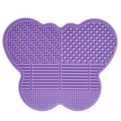 # 1 Best Silicone Makeup Brush Cleaning Mat -Butterfly shape - extend the use of your make up and art brushes!