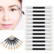 ABC® 12Pcs Makeup Double-end Eye Shadow Eyeliner Brush Sponge Applicator Tool