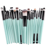 KOLIGHT 20 Pcs Pro Makeup Set Powder Foundation Eyeshadow Eyeliner Lip Cosmetic Brushes