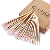 ABC 12PCS Make Up Foundation Eyebrow Eyeliner Blush Cosmetic Concealer Brushes