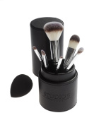 Complete Face Set by Studio 5 Cosmetics - Includes 6 Brushes, Pro Blending Sponge and Brush Holder