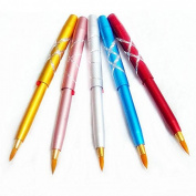 10pcs Portable Mini Metal Cosmetic Makeup Retractable Lip Brushes Lips Pencil Liner Multi Colour Beauty Tool