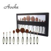 10pcs Professional Oval Brush Set , Aoohe Multipurpose Toothbrush Makeup Brushes Set Super Nice