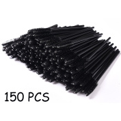 YYXR 150 Pack Disposable Eyelash Mascara Brushes Wands Applicator Eye Lash Makeup Brush Kits Black