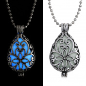 OVERMAL Women Glow In Dark Locket Hollow Pendant Luminous Necklace