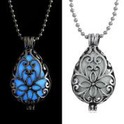 OVERMAL Women Glow In Dark Locket Hollow Pendant Luminous Necklace
