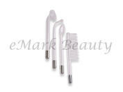 High Frequency Glass Tube Electrodes (set of 4) for Facial Machine Salon Spa Equipment