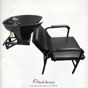 Salon Backwash Shampoo Tilt Bowl Sink Wall Mounted Easy Reclining Shampoo Chair TLC-B36WT-216A