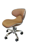 Cappuccino Low Pump Technician Stool for Salon, Spa, Barber, and Medical