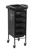 Heavy Duty Steel Frame Beauty Salon Rolling Trolley Cart with 5 Drawers