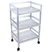 AMPERSAND SHOPS 3-Tier Shelves Rolling Storage Utility Cart