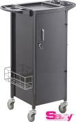 Savvy SAV-531-B Metal Rolling Storage with Lockable Door In BLACK + FREE YS Park L-Clips