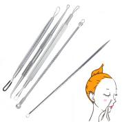 Hotrose® 5pcs Acne Extractor Kit Blackhead Blemish Pimple Comedone Remover Tool