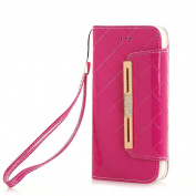 iPhone 7 Plus Wallet Case,TechCode Women Cute Style Candy Colour PU Leather Stand Cover Flip Lady Multi Envelope Wristlet Handbag Wallet Case with Cards Slots Card Holder