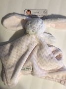 Blankets & Beyond Nunu Pink & Grey Bunny Security Blanket