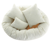 Ikevan 4 PC Newborn Photography Basket Filler Wheat Donut Posing Props Baby Pillow