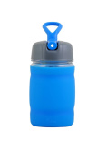 bubba 350ml silicone sport bottle blue